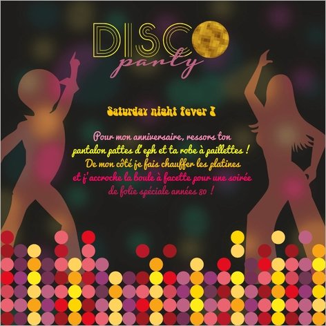 carte-invitation-anniversaire-disco